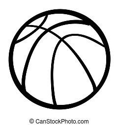 Cartoon image of Basketball Ball