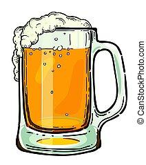 Cartoon image of beer in glass