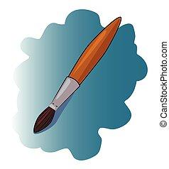 Cartoon image of Brush Icon. Paint symbol