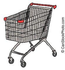 Cartoon image of Cart Icon. Shopping symbol