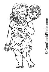 Cartoon image of cave woman