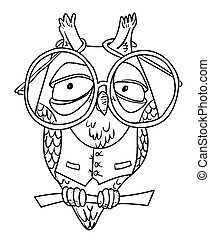 Cartoon image of clever owl
