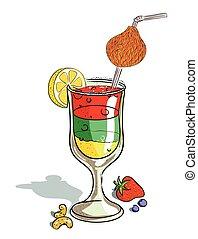 Cartoon image of cocktail