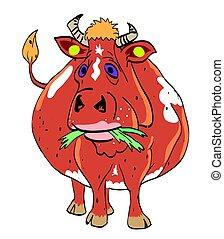 Cartoon image of cow