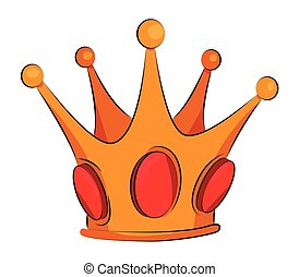 Cartoon image of Crown Icon. Crown symbol