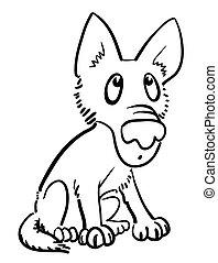 Cartoon image of dog