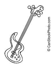 Cartoon image of electric guitar