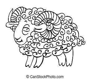 Cartoon image of goat