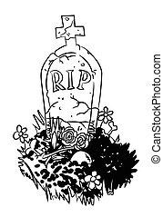 Cartoon image of grave