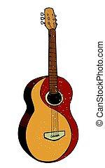Cartoon image of guitar