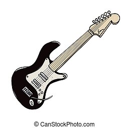 Cartoon image of Guitar
