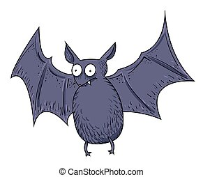 Cartoon image of halloween bat