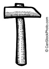Cartoon image of Hammer Icon