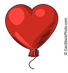 Cartoon image of Heart Balloon