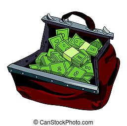 Cartoon image of huge bag of money