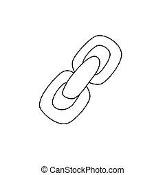 Cartoon image of Link Icon. Chain symbol