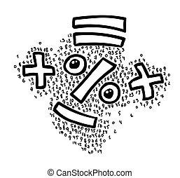 Cartoon image of Math