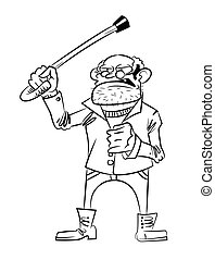 Cartoon image of mean old man
