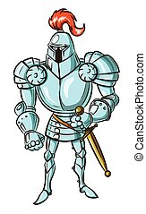 Cartoon image of medieval knight