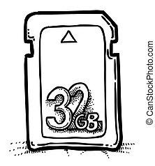 Cartoon image of Memory card