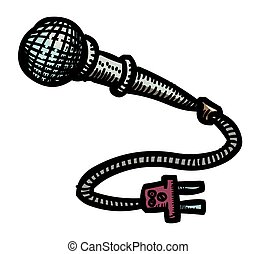 Cartoon image of Microphone Icon