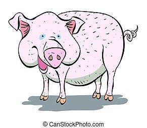 Cartoon image of pig