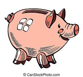 Cartoon image of piggy bank