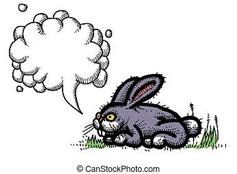 Cartoon image of rabbit.