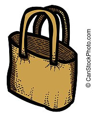 Cartoon image of Shopping bag