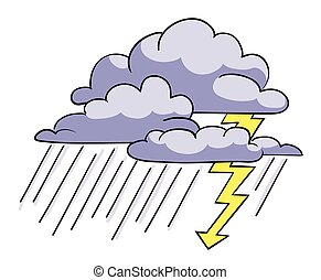 Cartoon image of Storm Icon. Rainstorm symbol