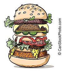 Cartoon image of tasty burger