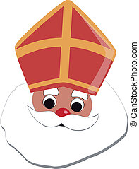 sinterklaas - cartoon image of the dutch character...
