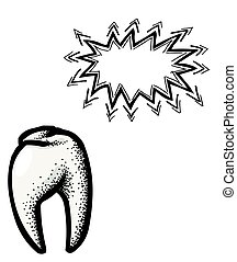 Tooth Icon. Dentistry symbol
