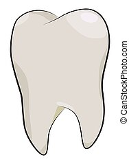 Cartoon image of Tooth Icon. Dentistry symbol
