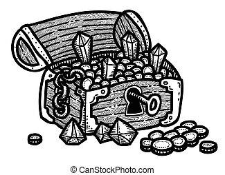 Cartoon image of treasure chest