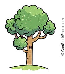 Cartoon image of Tree Icon. Tree symbol
