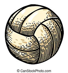 Cartoon image of Volleyball Icon. Sport symbol