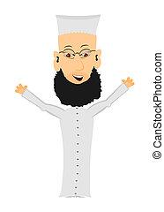 Cartoon Imam - Cartoon imam on a white background. Easy to...