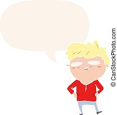 cartoon impatient man and speech bubble in retro style - ...
