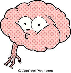 cartoon impressed brain