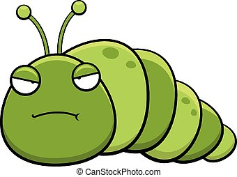 Cartoon Inch Worm Grumpy - Cartoon illustration of an inch ...