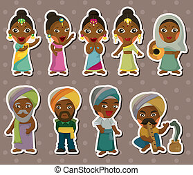 cartoon Indian stickers