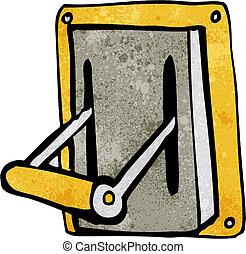 cartoon industrial machine lever