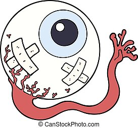 cartoon injured eyeball