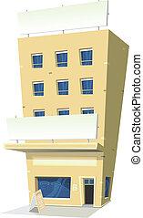 Cartoon Inn Restaurant - Illustration of a cartoon inn hotel...