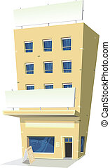Cartoon Inn Restaurant - Illustration of a cartoon inn hotel...
