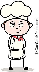 Cartoon Innocent Chef Expression Vector Illustration