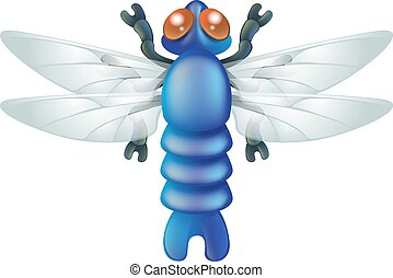 Cartoon insect dragon fly bug