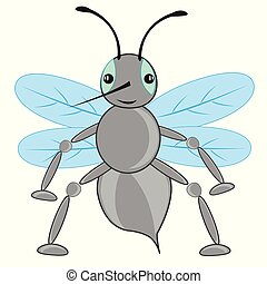 Cartoon insect fly