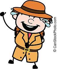 Cartoon Investigator Laughing